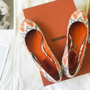 NIB Missoni Orange Print Flats